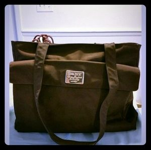 DKNY brown tote purse